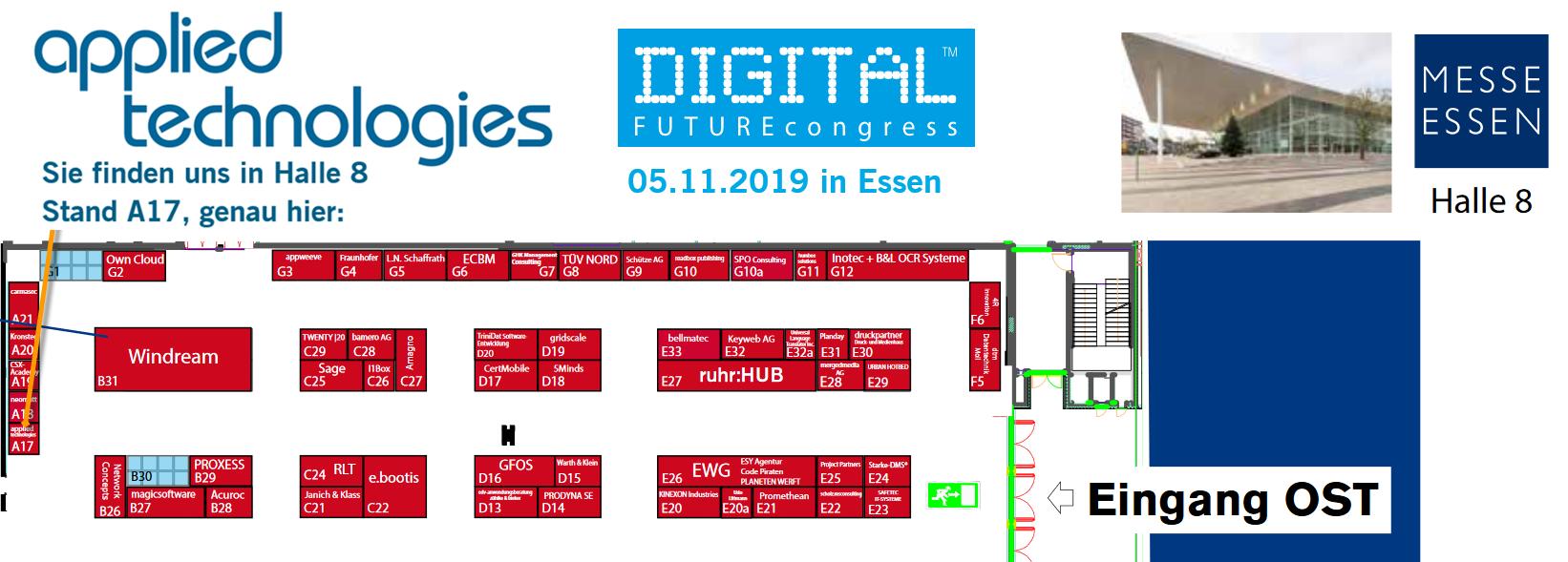 Hallenplan DIGTAL FUTUREcongress
