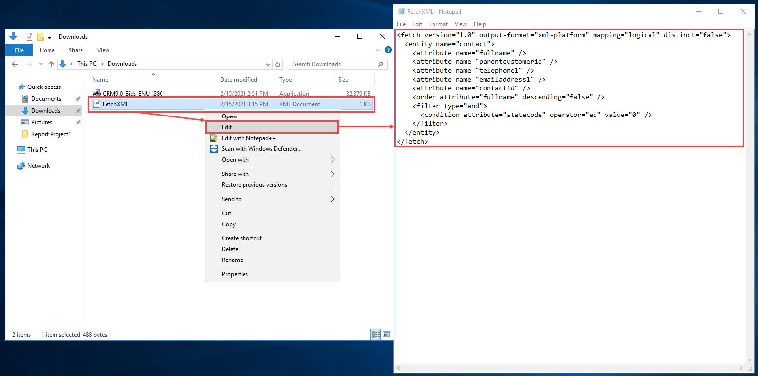 24 Visual Studio 2019 und Fetch XML